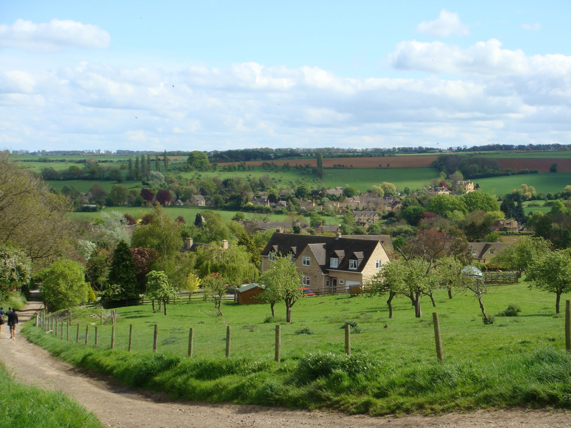 Chipping Campden as seen from Dove Hill - site of the 'shin-kicking Olimpiks'