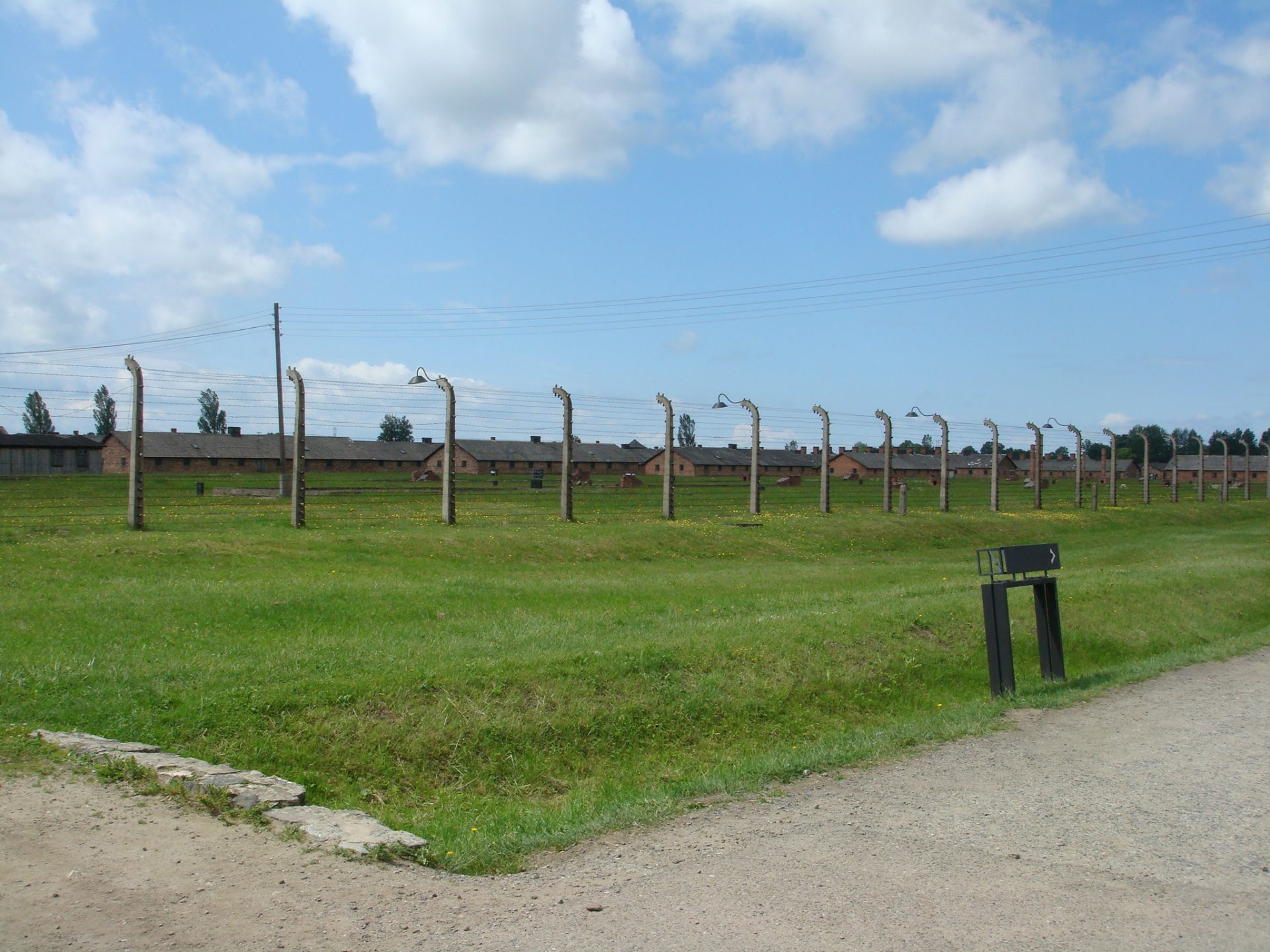 Birkenau, where the Nazis perfected their technique.  Mostly in ruins.