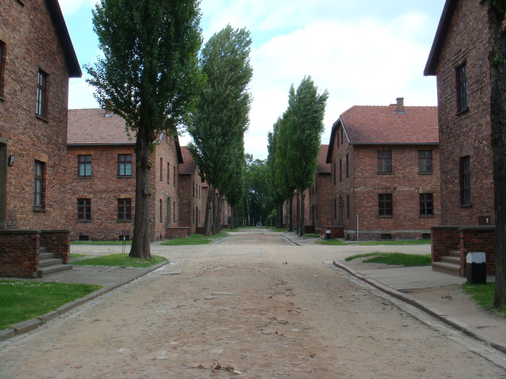 """Just a few of the """"Blocks"""" in Auschwitz - the older of the two camps.  The Germans learned at this camp; they used the information gathered here to build and run Birkenau"""