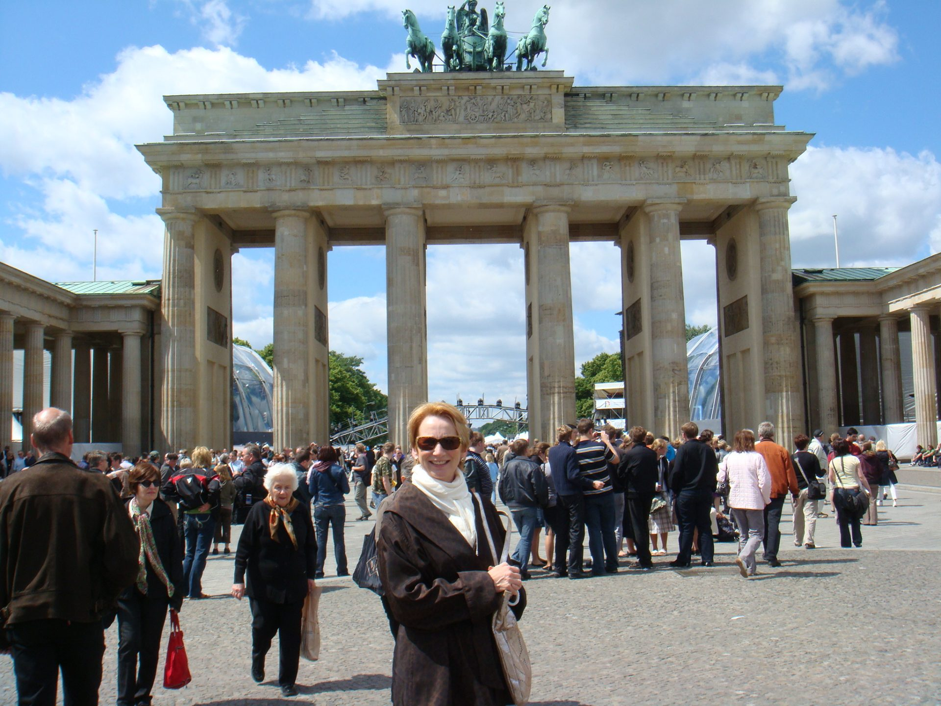 Me, celebrating freedom under the Brandenburg Gate
