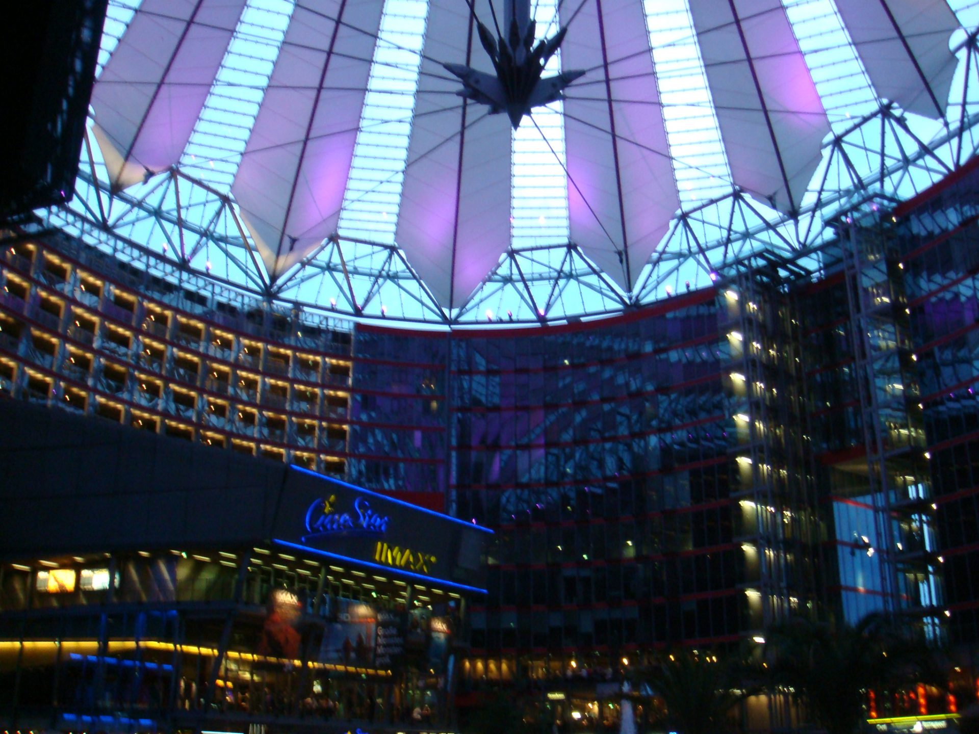 The Helmut Jahn designed Sony Center - site of the Star Trek cinema