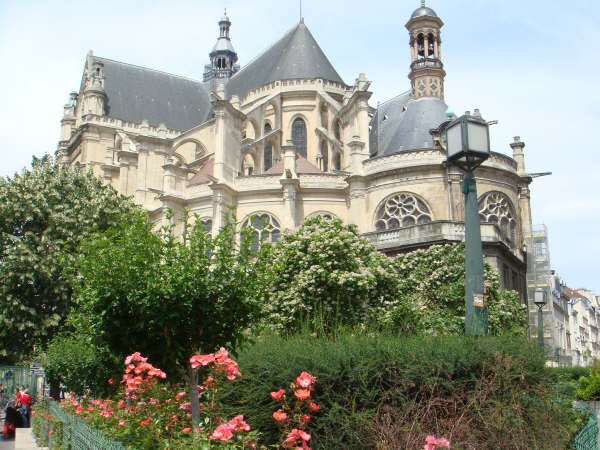 St. Eustache Church in Les Halles.  Mozart's mother's funeral was held here.