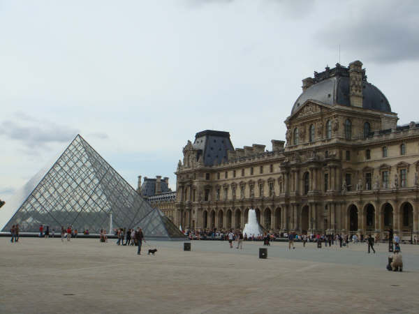 The Louvre with IM Pei's Pyramid addition