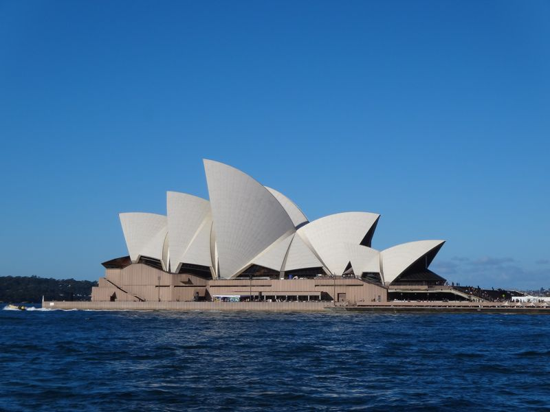 Sydney Opera House - still there when we returned