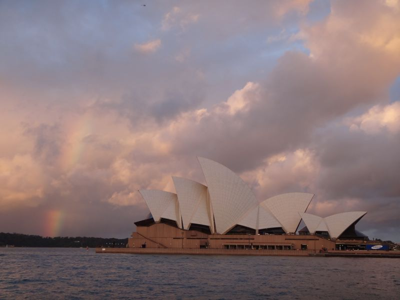 Opera house & Rainbow