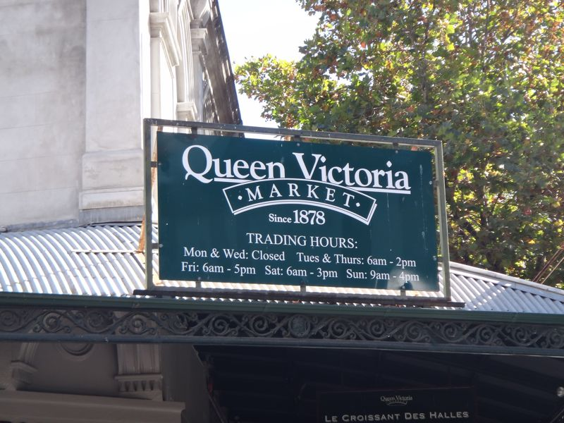 Queen Vic market sign