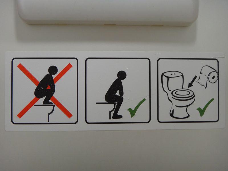 Bathroom warning sign