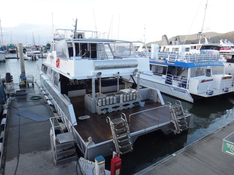 Boat for reef trip