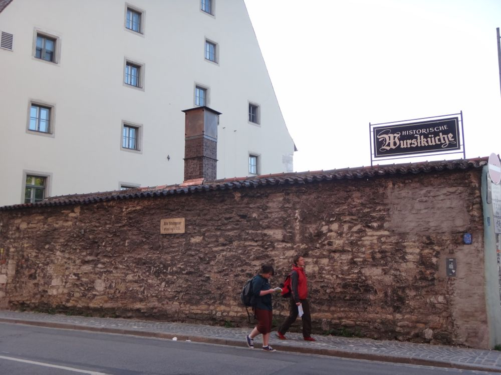wall from 1300's Regensburg