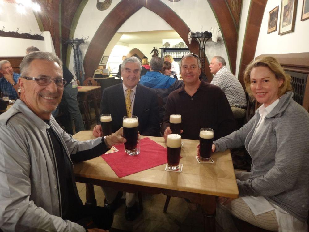 Roger, Prince Lowenstein, Joe & Paula Sargetakis at Brewerei Schlenkerla