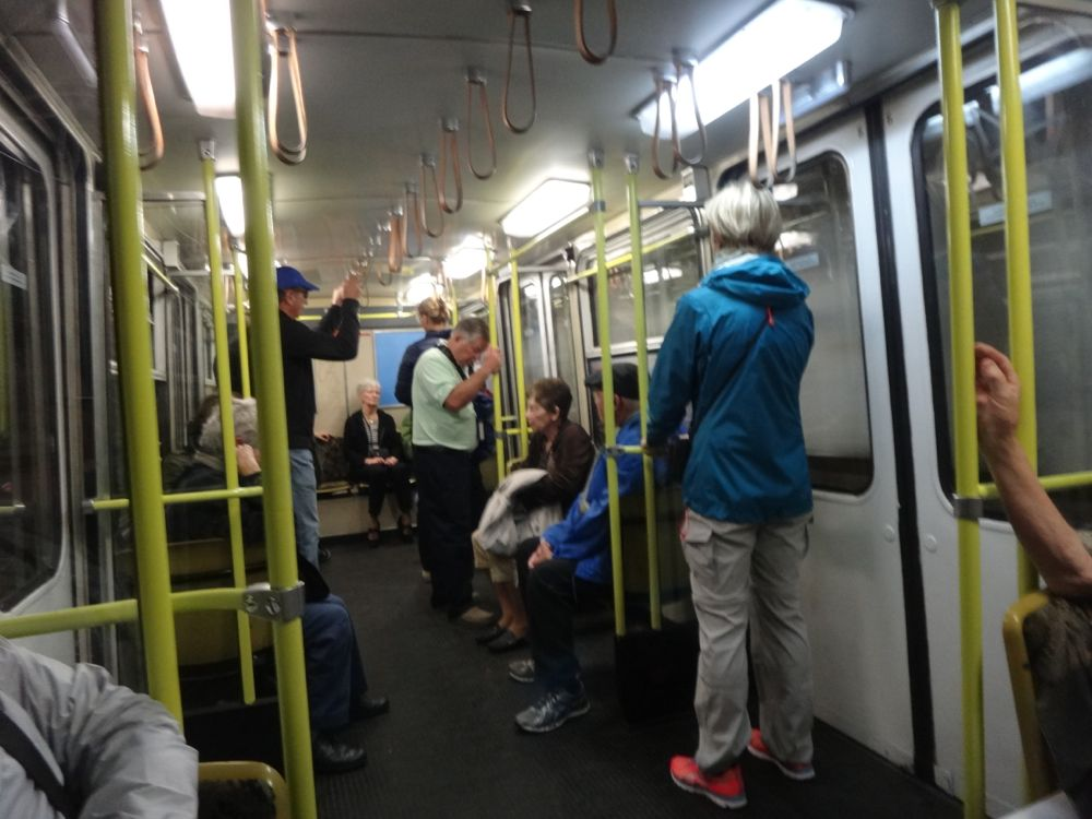 Unruly mobs on the subway