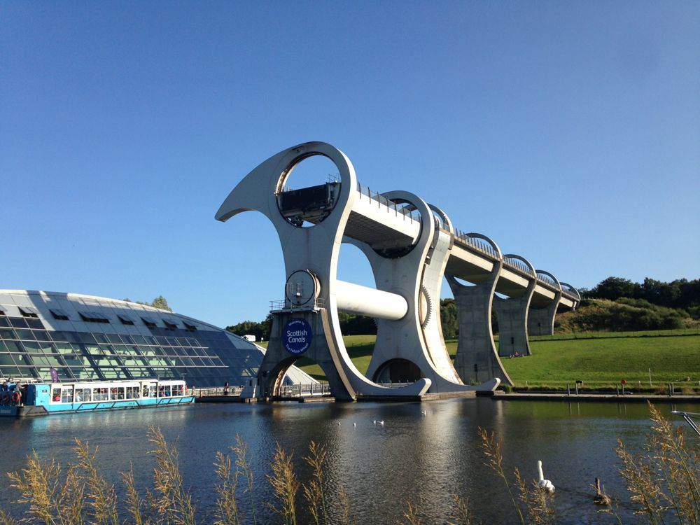 The Falkirk Wheel, at rest